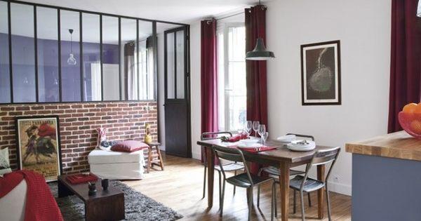 un appartement parisien transform en loft chic et branch new yorkais loft brique deco. Black Bedroom Furniture Sets. Home Design Ideas