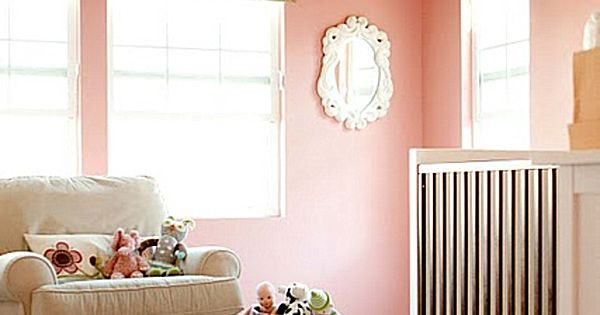 Modern Baby Room Ideas For Girls Mom To Be Peach Wall