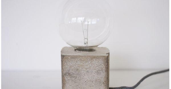 DIY Concrete light