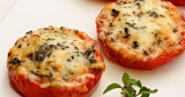Baked Parmesan Tomatoes Recipe - yummy side dish for summer