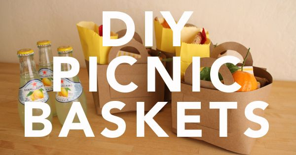 DIY Picnic Baskets (with free printable template)