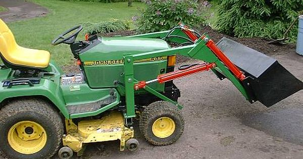 Garden Tractor With Mowing Deck And Front Loader Google Search Tractor Idea Garden Tractor Attachments Small Garden Tractor