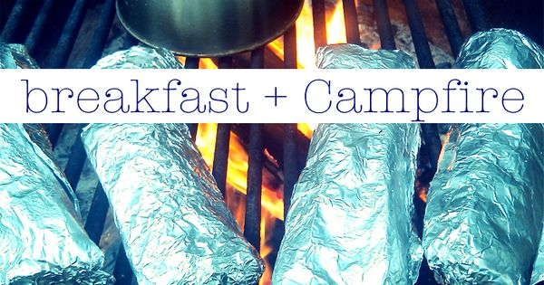 Breakfast burritos wrapped in tin foil. Just throw them on the grill