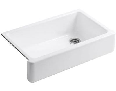 KOHLER Whitehaven Undermount Farmhouse Apron-Front Cast Iron 36 In. Single Basin Kitchen Sink In