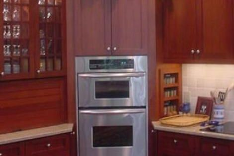 corner oven cabinet dimensions | ... cabinet microwave ...