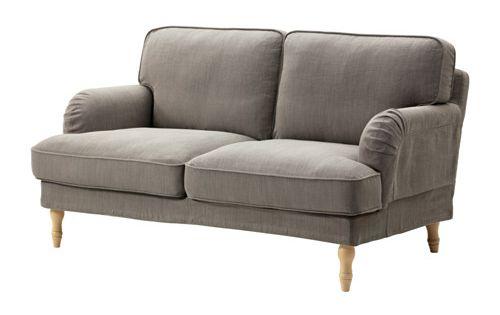 stocksund 2er sofa nolhaga graubeige hellbraun holz it. Black Bedroom Furniture Sets. Home Design Ideas