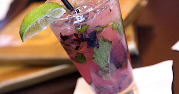blueberry mojito--another purple cocktail