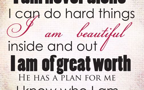 Perfect for my Young Women!!!! positive affirmation printables for youth