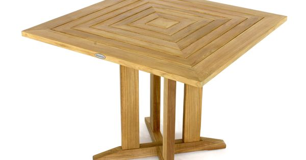 Pyramid 36in 3ft square teak outdoor dining table the collection