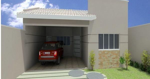 Fachadas de casas simples bonitas e pequenas projetos for Modelos cielorrasos para casas