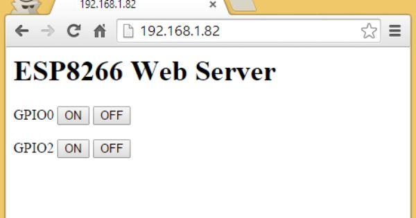 Esp web server tutorial arduino raspberry pi