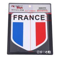 Auto Aluminum 3D France Flag Shield Side Rear Emblem Badge Decals Sticker