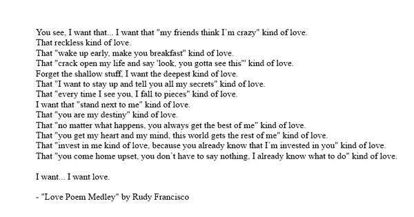 """Love Poem Medley"" (new)"