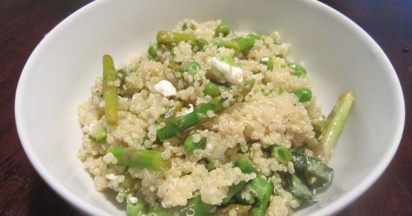 Asparagus, Quinoa and Quinoa recipe on Pinterest