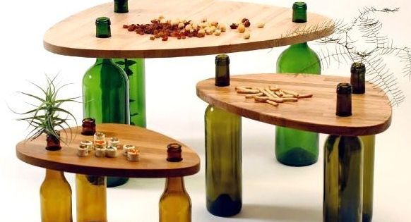 Un recyclage intelligent des bouteilles vides servent de - Table basse tati ...