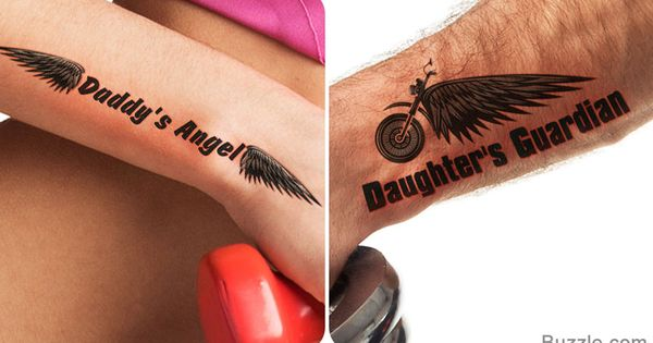 8 meaningful and fascinating father daughter tattoo for Father daughter tattoos ideas