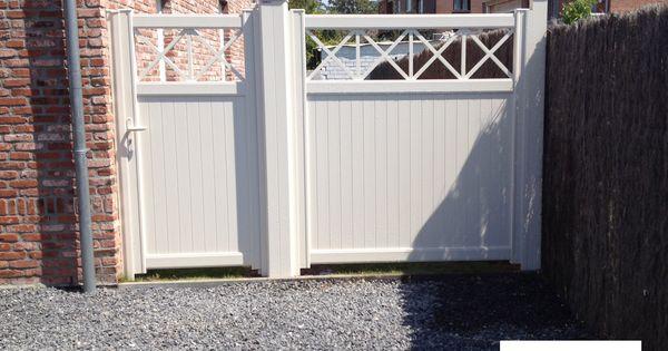 Portillon aluminium bokage et sa palissade id es for Portail jardin aluminium