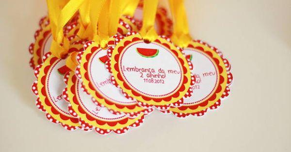 Tag De Lembrancinha Melancia | festa Magali | Festa da ...