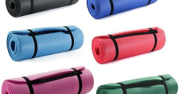 Details About Prosource Yoga Mat 1 2 Inch Extra Thick High Density Fitness Exercise W Straps