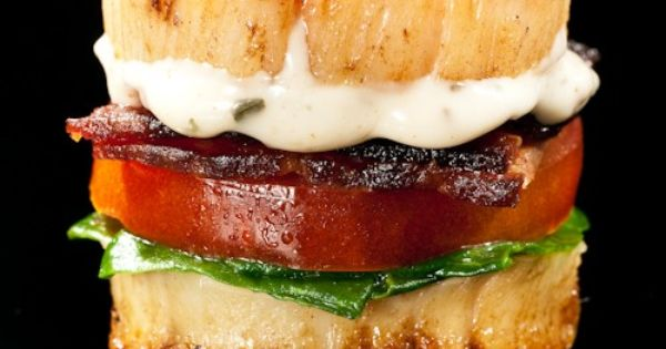 Scallop BLT Bite by thebitesizedblog: Colorful and succulent! Scallop BLT mmm yummie!!!