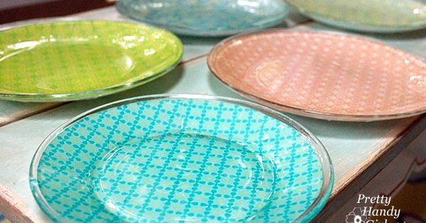 modge podge plates would be great for entertaining! dollar store plates and