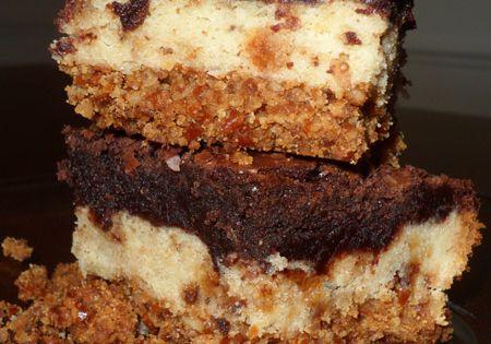 Ultimate Brownie Sugar Cookie Heath Pretzel Bars...um, um good!