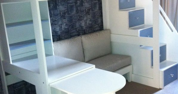 Tween Loft Bed With Pullout Desk Sofa And Multi
