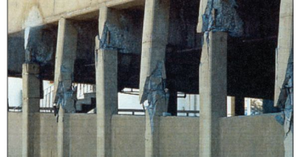 Damaged Parking Structure Whittier Narrows Los Angeles Earthquake 1987 The Deep Spandrels Create A Stro Los Angeles Earthquake California History Earthquake