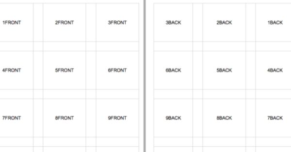 Excel Flashcards Template Printable Flash Cards Flash Card Template Free Printable Flash Cards