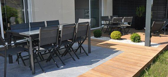 Terrasse bois et carrelage dj cr ation d co maison pinterest - Creation deco maison ...
