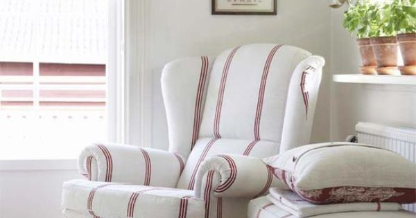 Fleaing France - bedrooms - attic bedrooms, vintage chairs, vintage wingback chairs,