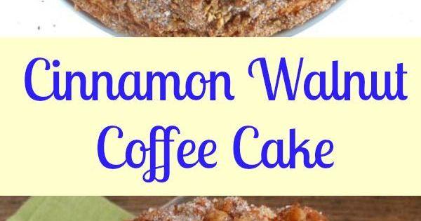 Cinnamon Walnut Coffee Cake | Recipe | Coffee Cake, Cinnamon and ...
