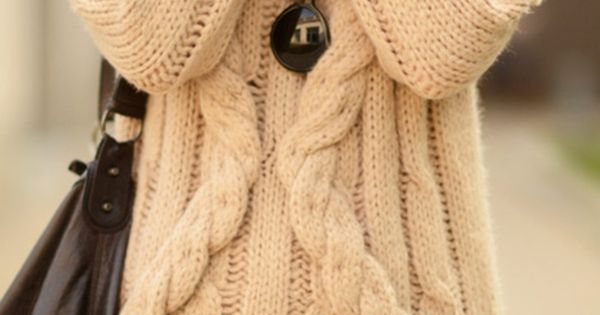 Fashion Style Chunky cable knits