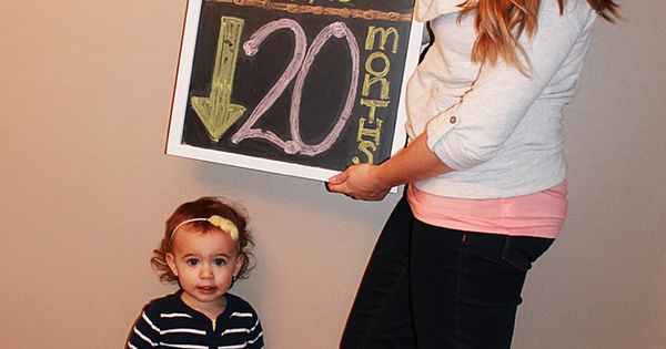 Super cute idea for pregnancy photos with your current kids