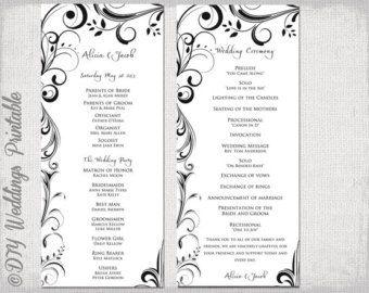 Items Similar To Bunting Printable Wedding Program Order Of Service Wedding Programs Template Printable Wedding Program Template Printable Wedding Programs