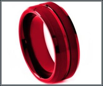 Black And Red Mens Wedding Bands Red Engagement Ring Mens Wedding Bands Black Wedding Band