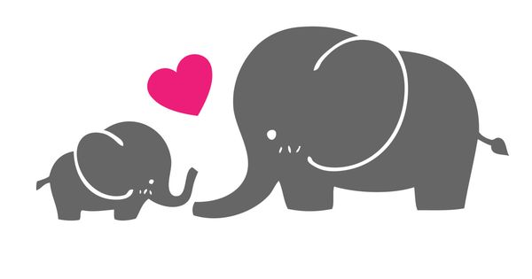 baby and mom elephant clipart wwwimgkidcom the image