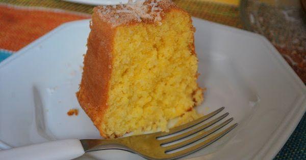 Blogging Foods: Cornmeal and Coconut Cake (Bolo de Fuba com Coco ...