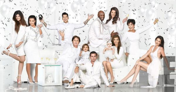 Kardashian Christmas card 2012: Kendall Jenner steals the show in all-white family