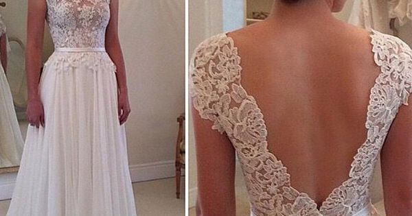 Lace Wedding Dresses Bohemian Backless 2015 White