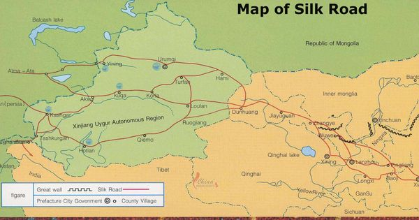 Silk Road Map, Maps of the Silk Road - China Highlights ...