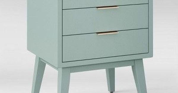 Hafley Three Drawer End Table Smoke Green Project 62 End Tables Project 62 Table
