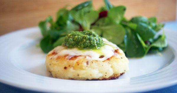 ... Pancakes with Mozzarella & Pesto Recipe | KW - Pesto | Pinterest