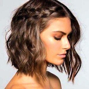 Side Braid Hairstyles For Short Hair Braided Hairstyles For Short Hair Medium Hair Styles Medium Length Hair Styles Short Hair Styles