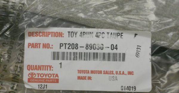 Toyota Pt208 89030 04 Carpeted Floor Mats For 2003 2009 4runner Oak Floor Mats 2009 4runner Cargo Liner