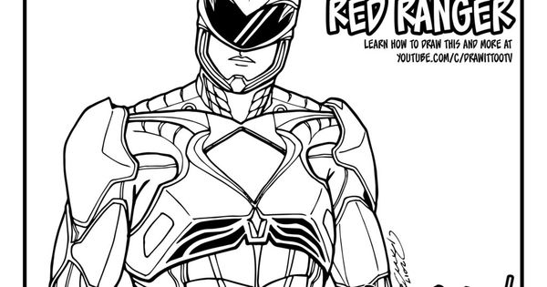 red power ranger coloring page1024x791jpg