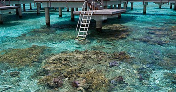 Cool huts built over the water, Bora Bora, French Polynesia