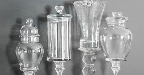 DIY Apothecary Jars... BRILLIANT!!! HACK: candlesticks & glass jars.