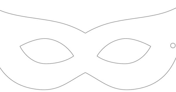 Printable Masquerade Mask Template Cosplay Mask