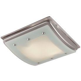 1 5 Sone 100 Cfm Brushed Nickel Bathroom Fan With Light Bathroom